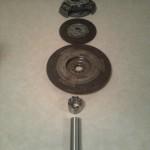 Även svänghjulet kommer att fästas med ett spännelement, mer om det längre fram i bygget…