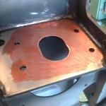 2013-07-01  Nu har jag målat, skubbat, slipat, målat skubbat slipat… om och om igen… allt för att få plana ytor att montera lagerhusen mot.