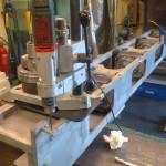 Håller nu på att borra hål för infästning av cylinderblock i vevhuset…