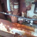 2013-09-04   Fann på en bilskrot en dylik vattenpump som liknar den jag har till bygget.