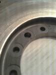 Svänghjulet är även märkt för att montera nav med spännelement rätt…