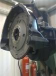 Och så här ser det ut när jag pillat dit svänghjul med koppling.