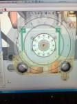 … så jag får montera dem under motorn, så här. I bilden syns flera lager av detaljer… Transmissionsplåten, Distansplåt, Startmotorplåt, Startmotorer mm.
