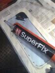 … att klägga dit Superfix som ljudämpning.