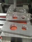 Med ursvarvningsverktyget har jag tillverkat den bitar som ska bli flänsanslutning för kylvattnet.