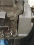 I snittet där jag kapat bort original växellådsfäste har jag…