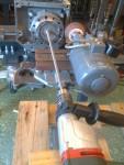 ... en gängstång och en borrmaskin. Till detta tarvades min granne Holger som borrmaskin-maskinist, och slipningen...