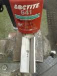 Jag blästrade spalten och fyllde den sedan med LocTite 641.