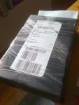 I detta paket ligger en aluminiumplatta från WestMetall till bla vattenanslutning i främre Block. Jag började göra affärer med dem för över 20 år sedan. Kolla i Hall of Fame på deras breda sortiment och stora kunnande. Rekommenderas! Denna platta ska bli roligt att börja fräsa i, men det blir en annan dag.
