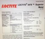 ... en för mig nyfunnen Kemisk Metall från LocTite som är helt superior. Den klarar en massa olika kemikalier i hög temperatur, så varm motorolja är inga problem.