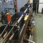 2013-04-07 Äntligen har jag börjat ägna mig åt vevhuset igen… Nu byggs det om som torrsump. Här en test med Huvudaxeln…