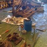2013-06-15  Efter mycket rost-sprayande, värmande med gasen, stålborstande, bankande, och en blånagel..  är en del av framvagnen obducerad och…