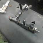 2012-10-12  Här är ett par av de ventiler jag ska ha under tråget för att koppla ihop de olika torrsumpfacken…