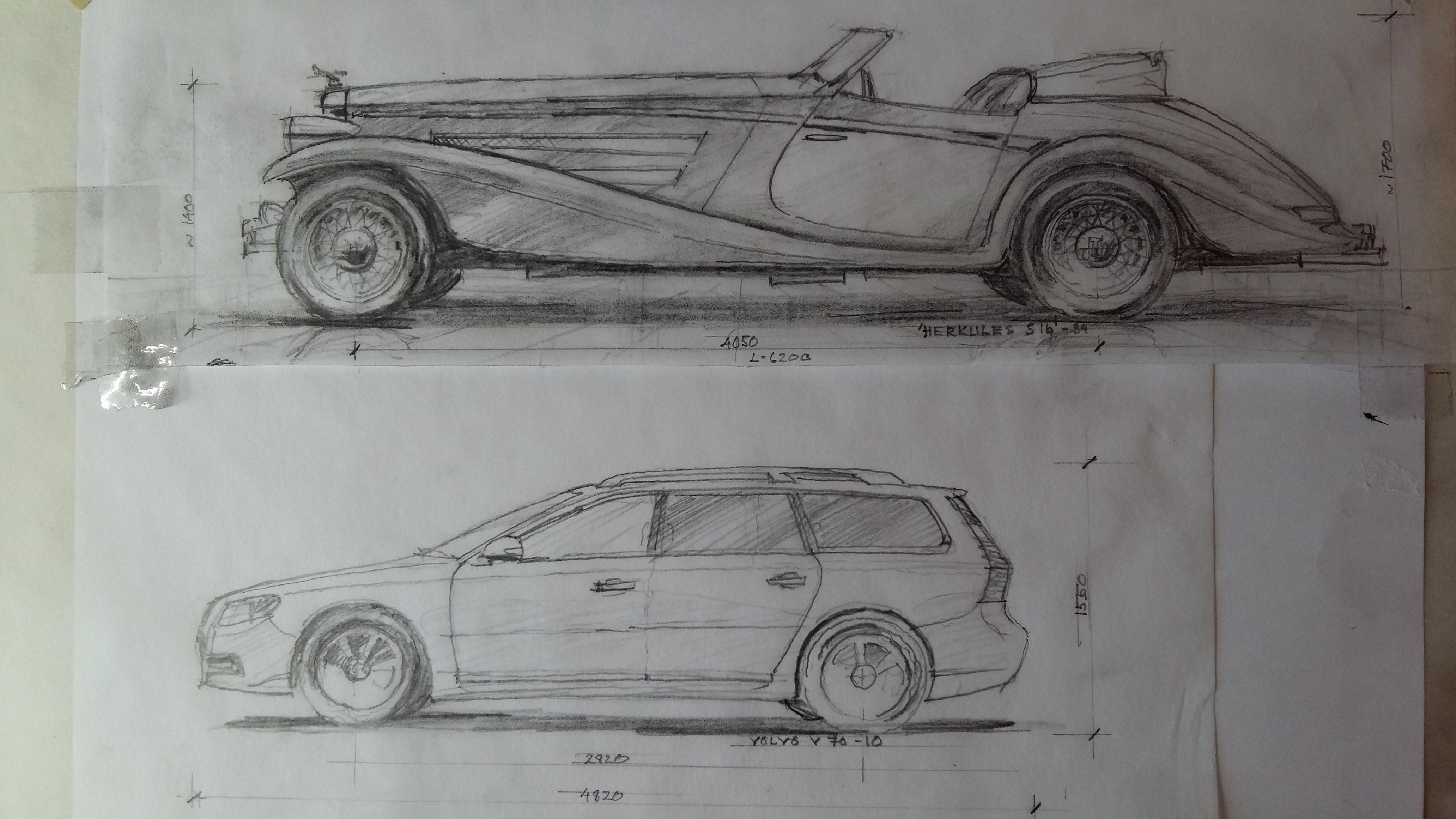 Och till sist en Volvo V70. Hur stor den är vet väl de flesta. Och vi kan konstatera att det inte är så mycket som syns av bilen om den är parkerad bakom Herkules. Men mer om detta… en annan dag.