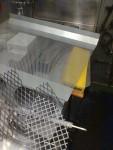 Luftfilter från Biltema (so far)  och funderingar på vad man ska ha för galler utåt, så inte mössen kryper in i motorn.