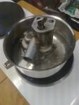 Här provar jag att inte pumpgaveln slår sig så jag får negativt spel när den blir 100 grader.