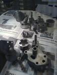 Pumparnas alla delar tvättade.