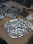 Dessutom ett lager aluminium som jag tar från matförvaringsburkar. Dessa är 0,10 - 0,12mm tjocka och för att få ut dem ordentligt…